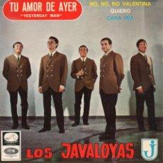 Discos de vinilo: JAVALOYAS, EP, TU AMOR DE AYER (YESTERDAY MAN) + 3 , AÑO 1966. Lote 42457192