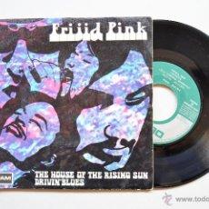 Dischi in vinile: FRIJID PINK-THE HOUSE OF THE RISING SUN-DRIVIN BLUES -PROMOCIONAL- (DERAM SINGLE 1970) SPÑ. Lote 42460575