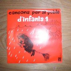 Discos de vinilo: CANÇONS PER AL POBLE D´INFANTS 1. PORTADA CESC. 1971. Lote 42461917