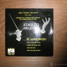 Discos de vinilo: ATAULFO ARGENTA. SOPRANO ANA MARIA IRIARTE. AMOR BRUJO + 3. EP. LA VOZ DE SU AMO 1958. Lote 42462203