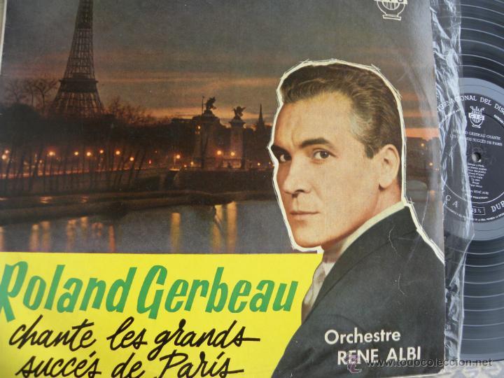 ROLAND GERBEAU -ORCHESTRE RENE ALBI -LP 1961 (Música - Discos - LP Vinilo - Canción Francesa e Italiana)