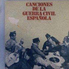 Discos de vinilo: CANCIONES DE LA GUERRA CIVIL ESPAÑOLA. EP. Lote 42462671