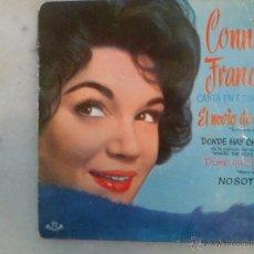 Discos de vinilo: CONNIE FRANCIS CANTA EN ESPAÑOL. EL NOVIO DE OTRA Y OTRAS CANCIONES. EP MGM HISPAVOX. Lote 42462980