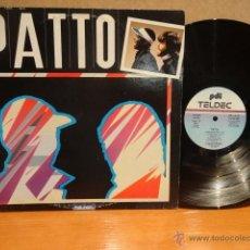 Discos de vinilo: PATTO. MISMO TÍTULO. LP / PDI-TELDEC - 1984. VINILO DE BUENA CALIDAD. **/*** RARO. Lote 42463376