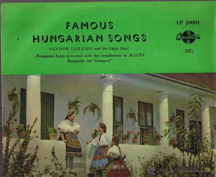 FAMOUS HUNGARIAN SONGS - SANDOR LAKATOS AND HIS GIPSY BAND - FOTO ADICIONAL (Música - Discos de Vinilo - Maxi Singles - Étnicas y Músicas del Mundo)