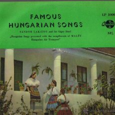 Discos de vinilo: FAMOUS HUNGARIAN SONGS - SANDOR LAKATOS AND HIS GIPSY BAND - FOTO ADICIONAL. Lote 42469678