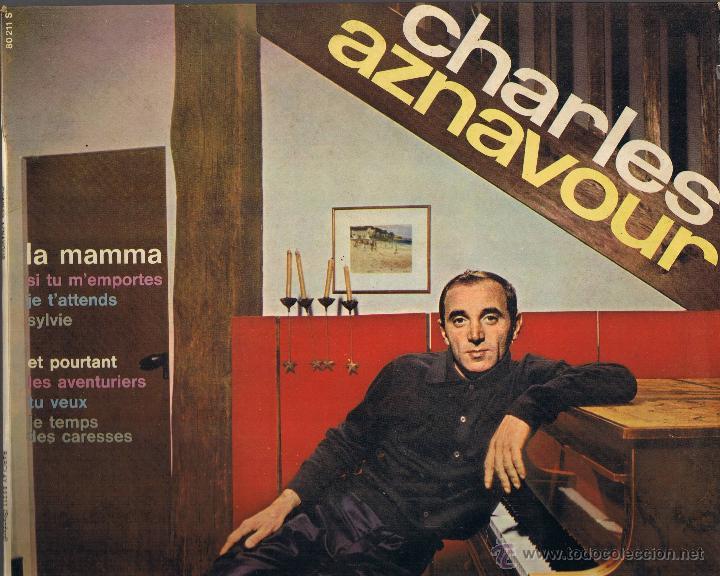 CHARLES AZNAVOUR - LA MAMMA - SYLVIE - TU VEUX - LES AVENTURIERS (Música - Discos de Vinilo - Maxi Singles - Canción Francesa e Italiana)