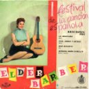 Discos de vinilo: ELDER BARBER - FESTIVAL BENIDORM, EP, DON QUIJOTE + 3 , AÑO 1959. Lote 42474857