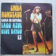 Discos de vinilo: LINDA RONSTADT CANTA EN ESPAÑOL - LAGO AZUL. Lote 194730157