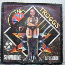 Discos de vinilo: THE TROGGS - SUMMERTIME - SATISFACTION. Lote 42475414