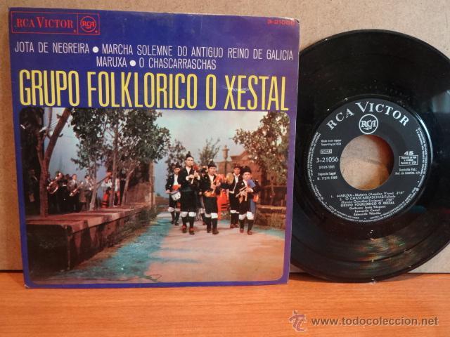 GRUPO FOLKLÓRICO O XESTAL. JOTA DE NEGREIRA. EP / RCA-VICTOR - 1968. MUY RARO. ***/*** (Música - Discos de Vinilo - EPs - Country y Folk)