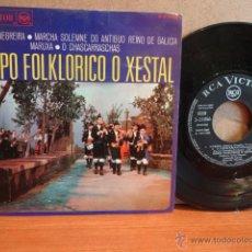 Discos de vinilo: GRUPO FOLKLÓRICO O XESTAL. JOTA DE NEGREIRA. EP / RCA-VICTOR - 1968. MUY RARO. ***/***. Lote 42483015