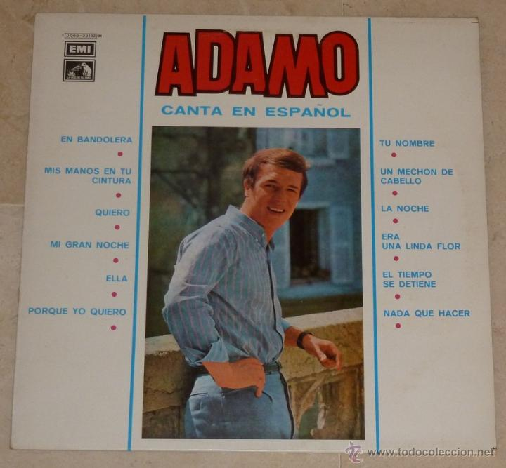 ADAMO - CANCIONES EN ESPAÑOL (Música - Discos - LP Vinilo - Cantautores Internacionales)