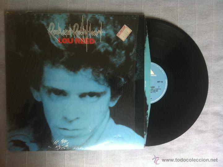 LP LOU REED-ROCK AND ROLL HEART-UK 1976 (Música - Discos de Vinilo - EPs - Pop - Rock Extranjero de los 70	)