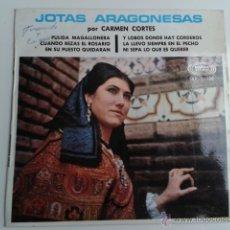 Disques de vinyle: CARMEN CORTÉS JOTAS ARAGONESAS 1968 EP SONOPLAY ARAGÓN JOTA. Lote 42523884