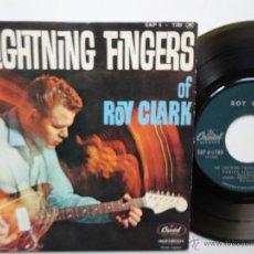 Discos de vinilo: ROY CLARK- THE LIGHTNING FINGERS- DENTED FENDER+3- FRENCH EP 1962- ULTRA RARE- EX/EX.. Lote 42538160