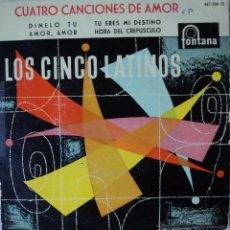 Discos de vinilo: LOS CINCO LATINOS - DÍMELO TU - EDICIÓN DE 1959 DE ESPAÑA - VINILO AZUL. Lote 42546788
