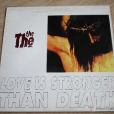 Discos de vinilo: THE THE, LOVE IS STRONGER THAN DEATH,EPIC,1993, MADE IN UK, MAXI 45RPM. Lote 42549929