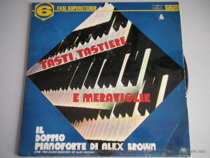 MAGNIFICO LP DE - TASTI - TASTIERE - E MERAVIGLIE - PIANO DI ALEX BROWN - (Música - Discos - LP Vinilo - Disco y Dance)