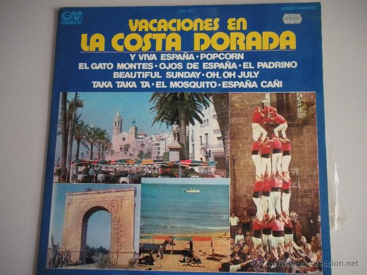 MAGNIFICO LP - VACACIONES EN - LA COSTA DORADA - DEL AÑO 1973 - (Música - Discos - LP Vinilo - Disco y Dance)