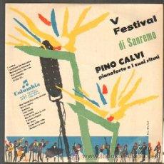 Disques de vinyle: V FESTIVAL DI SANREMO. PINO CALVI, PIANOFORTE E I SUOI RITMI. DISCO DE 10 PULGADAS D-DIEZP-337. Lote 42556599