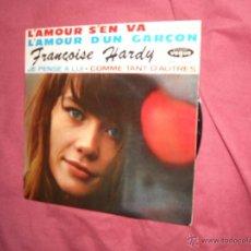 Discos de vinilo: FRANCOISE HARDY EP LAMOUR SÉN VA EUROVISION 1963 VOGUE FRANCE. Lote 42563671