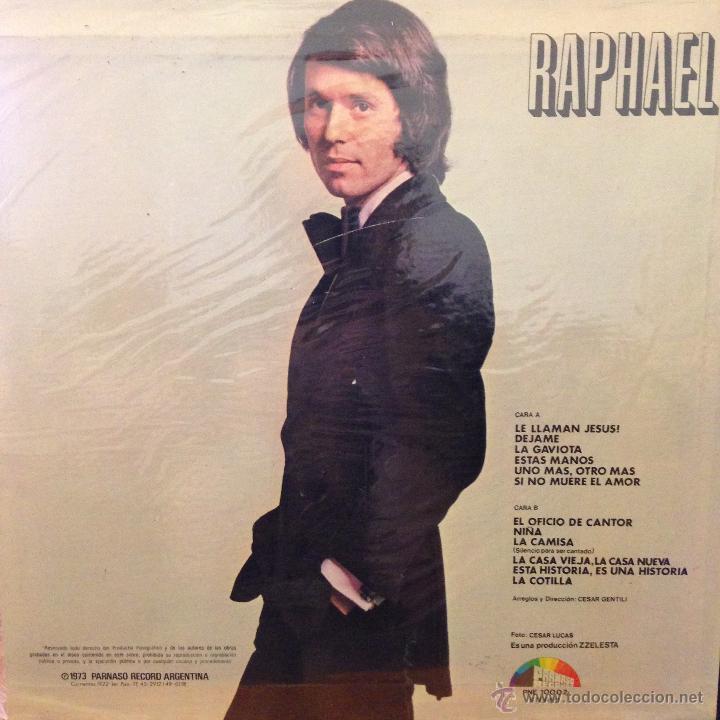 Discos de vinilo: LP argentino de Raphael año 1973 - Foto 2 - 42566933
