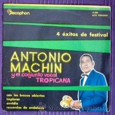 Discos de vinilo: ANTONIO MACHÍN Y EL CONJUNTO TROPICANA - 1960. Lote 42571003