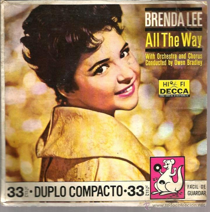 EP BRENDA LEE : ALL THE WAY (Música - Discos de Vinilo - EPs - Pop - Rock Extranjero de los 50 y 60)