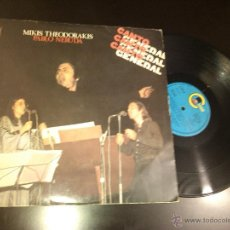 Discos de vinilo: MIKIS THEODORAKIS / PABLO NERUDA - CANTO GENERAL (2XLP, ALBUM) . Lote 42573392