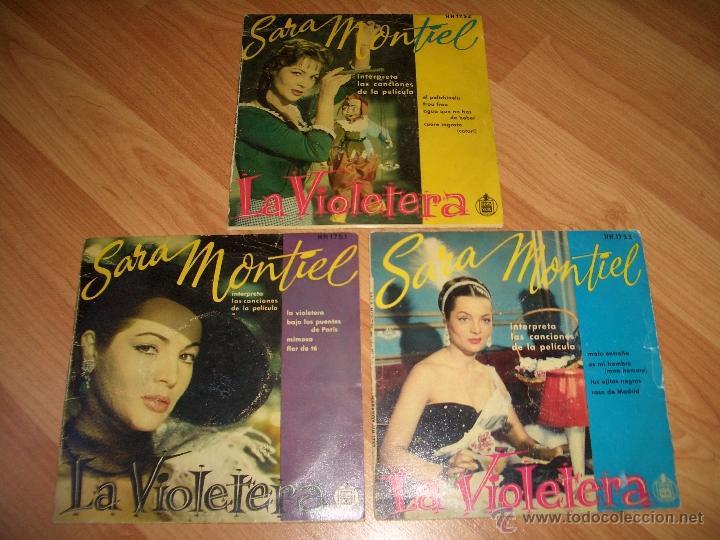 SARA MONTIEL - LA VIOLETERA (Música - Discos de Vinilo - EPs - Flamenco, Canción española y Cuplé)