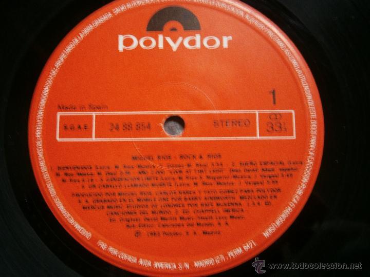 Discos de vinilo: MIGUEL RIOS DOBLE LP LIVE - Foto 4 - 42574985