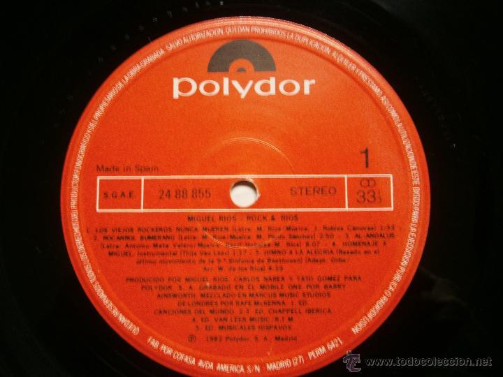 Discos de vinilo: MIGUEL RIOS DOBLE LP LIVE - Foto 6 - 42574985