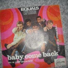 Discos de vinilo: EQUALS, BABY, COME BACK - SOLO LA FUNDA DEL SINGLE. Lote 42580181