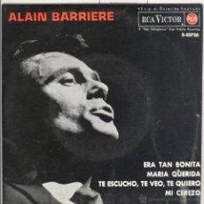 Discos de vinilo: ALAIN BARRIERE. ERA TAN BONITA, ETC, RCA VICTOR 1963. EP. Lote 42582988