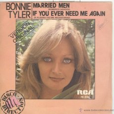 Dischi in vinile: BONNIE TYLER. MARRIED MEN. IF TOU EVER NEED ME AGAIN. RCA 1979 SP. Lote 42583005