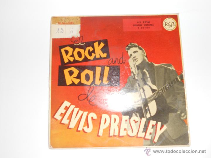 ELVIS PRESLEY (EP) SHAKE, RATTLE AND ROLL AÑO 1958 - LEER - EDICION ESPAÑOLA (Música - Discos de Vinilo - EPs - Rock & Roll)