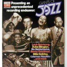 Discos de vinilo: DISCO PROMOCIONAL EN PLÁSTICO FLEXIBLE TITULADO 'GIANTS OF JAZZ', EDITADO POR TIME-LIFE EN 1980. Lote 42587879