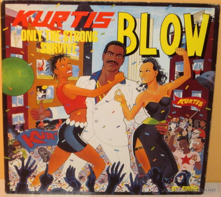 KURTIS BLOW - ONLY THE STRONG SURVIVE U S A - MERCURY - 1988 (Música - Discos de Vinilo - Maxi Singles - Rap / Hip Hop)