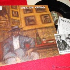 Discos de vinilo: REY DE COPAS LP 1987 DRO MOVIDA POP + HOJA PROMO + POSTAL PROMO. Lote 42603434