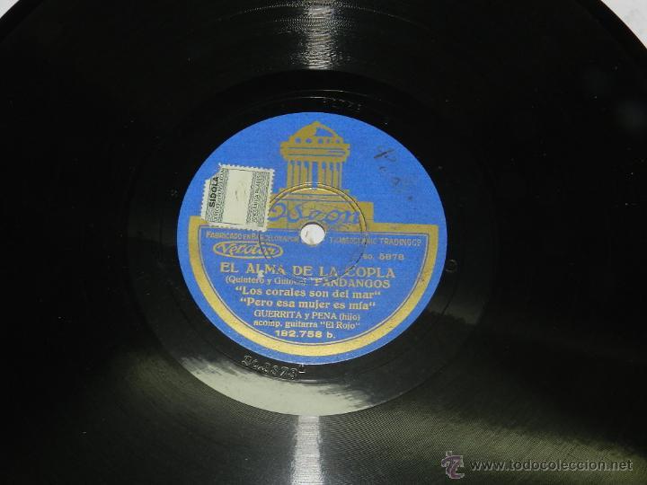 Discos de vinilo: DISCO DE PIZARRA EL ALMA DE COPLA, GUERRITA Y PENA (HIJO), MALAGUEÑAS ( TU ESTAS DORMIA EN TU CAMA), - Foto 2 - 42607234