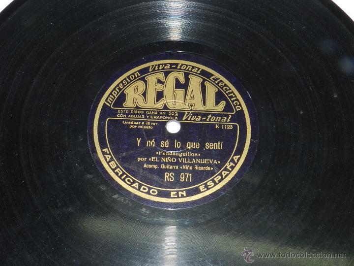 DISCO DE PIZARRA DE EL NIÑO VILLANUEVA, ACOMP. GUITARRA NIÑO RICARDO, FANDANGUILLOS, POR QUE POCO TE (Música - Discos de Vinilo - Maxi Singles - Cantautores Españoles)