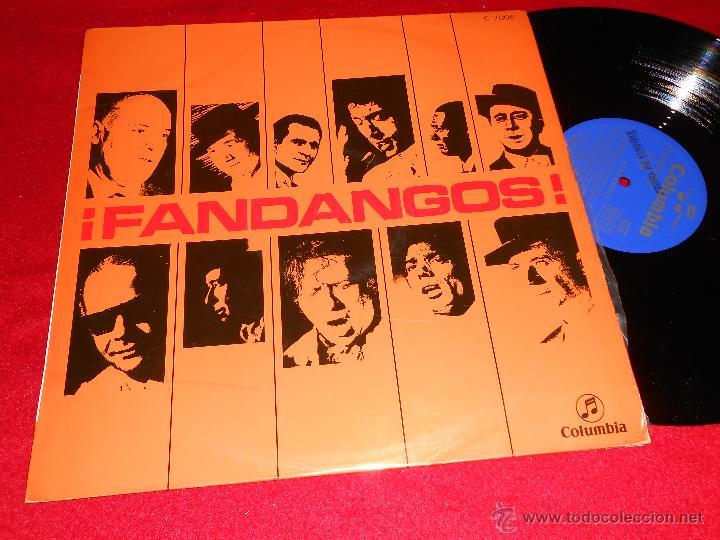 FANDANGOS LP 1969 PROMO PEPE PINTO VALDERRAMA PORRINA BADAJOZ LEBRIJANO AZNALCOLLAR CHOCOLATE GORDIT (Música - Discos - LP Vinilo - Flamenco, Canción española y Cuplé)