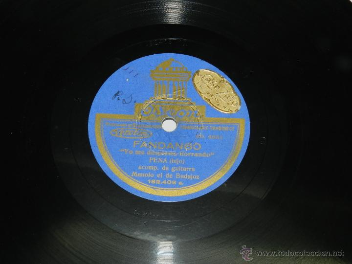 DISCO DE PIZARRA, FANDANGO, FLAMENCO, ENTRE BESOS Y CARICIAS, YO ME DESPIERTO LLORANDO, PENA HIJO AC (Música - Discos - Singles Vinilo - Cantautores Españoles)