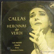 Discos de vinilo: MARIA CALLAS. HEROINAS DE VERDI.LA VOZ DE SU AMO. 1959.. Lote 42613837