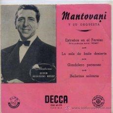 Discos de vinilo: MANTOVANI / EXTRAÑOS EN EL PARAISO / GONDOLERO PEREZOSO + 2 (EP ESPAÑOL 1959). Lote 42615310