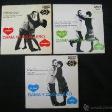 Discos de vinilo: DAMA Y CABALLERO, MUSICA PARA BAILAR // MAX GREGER Y SU ORQUESTA // LOTE DE TRES DISCOS. Lote 42615847