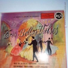 Discos de vinilo: 3 BELLOS VALSES. MORTON GOULD ORQUESTA. STRAUSS, TCHAIKOVSKI. WEBER. RCA 3-26124. Lote 42618942