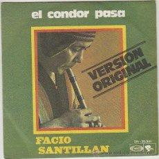 Discos de vinilo: FACIO SANTILLAN - SORTILEGIO DE LA FLAUTA DE LOS ANDES - EL CONDOR PASA. Lote 42619590