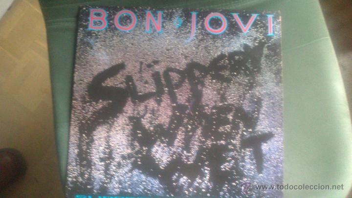 L.P BON JOVI, SLIPPERY WHEN WET, ORIGINAL (Música - Discos - LP Vinilo - Pop - Rock - New Wave Extranjero de los 80)